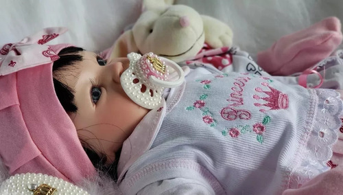 Bebe  Reborn Menina Linda + Kit Com Acessórios Confira Original