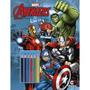 Livro Para Pintar Vingadores Com Lápis De Cor Heróis Disney