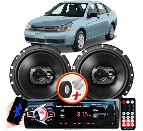 Som Carro Rádio Mp3+ 2 Alto Falante Pioneer D 6'' Pol Ts1790br Ford Focus Sedan Original
