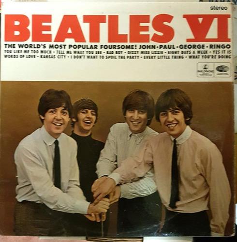 Lp Beatles Vi Stereo 1966 Inglês Uk Export Edition Original