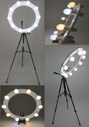 Ring Light 10 Soquetes E27 + Tripé 1,50m + Kit Selfie Original