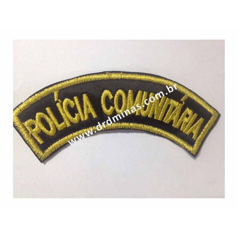 Patch / Distintivo Bordado Policia Comunitaria - U