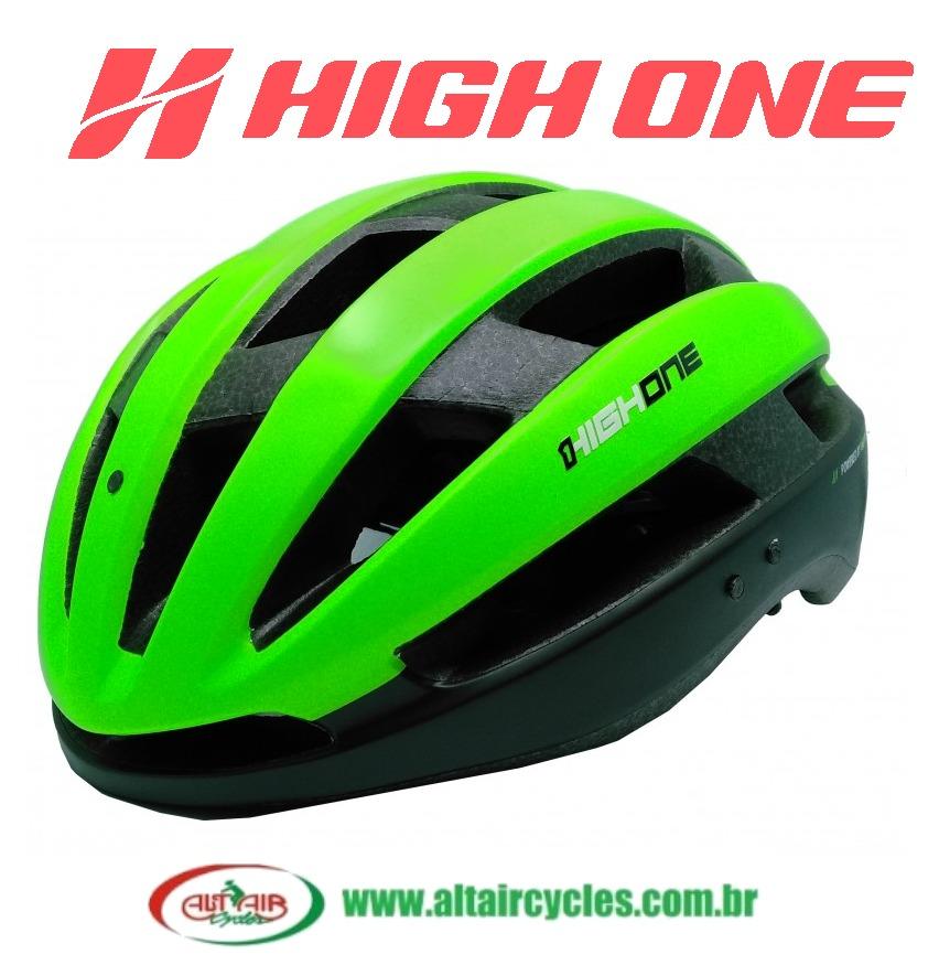 Capacete High One Wind Aero Verde
