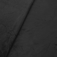 Tecido suede amassado preto Larg. 1,40 m