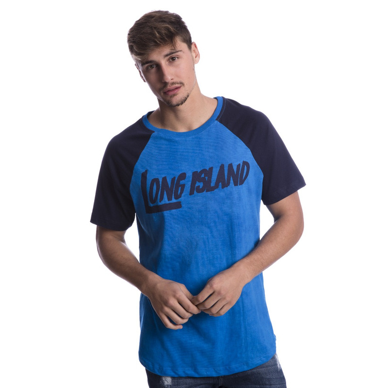 Camiseta Long Island Raglan Azul