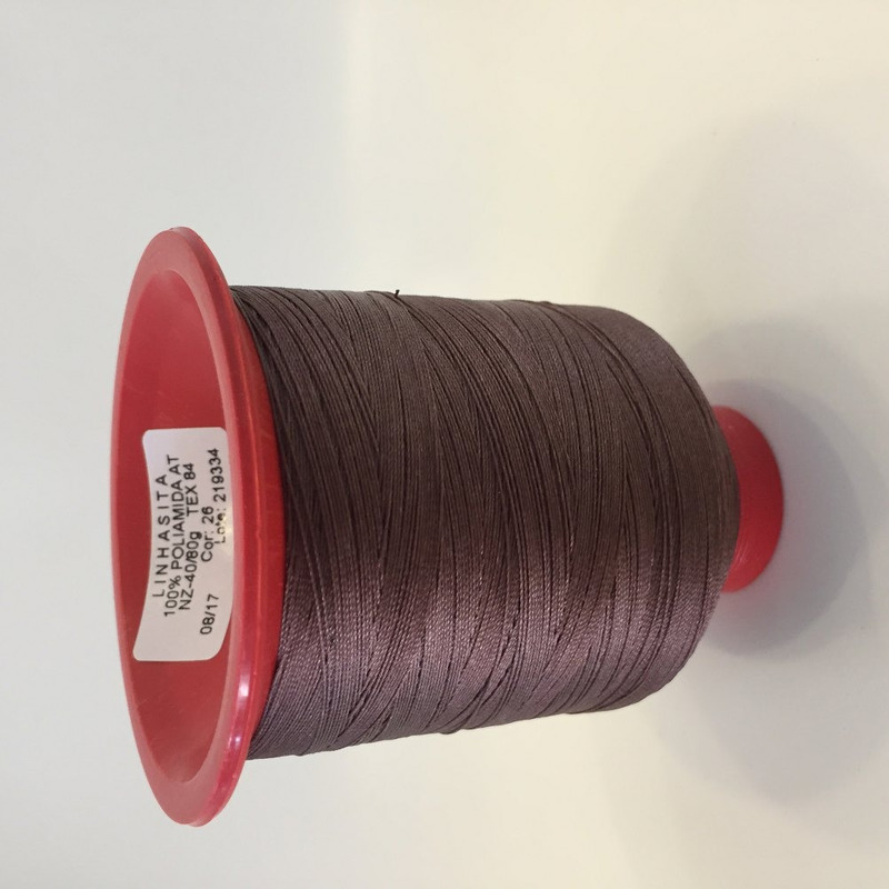 Linha 40 para costura marrom chocolate - 26
