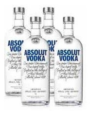 Vodka Absolut (kit 4 Unidades Litro) Original