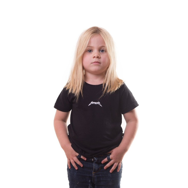 CAMISETA APPROVE BACKSTAGE DIRECTOR PRETA KIDS