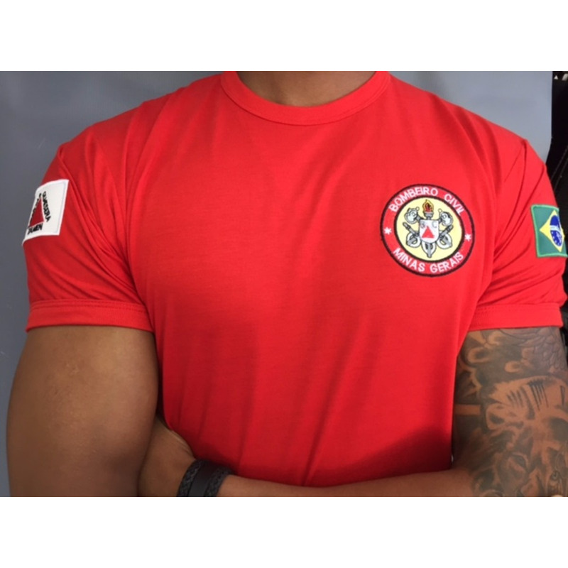 Camisa Bombeiro Civil- Bordada - Minas Gerais