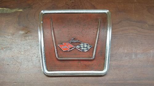 Capa Tela Emblema Alto Falante Banco Traseiro Impala 1961 Original