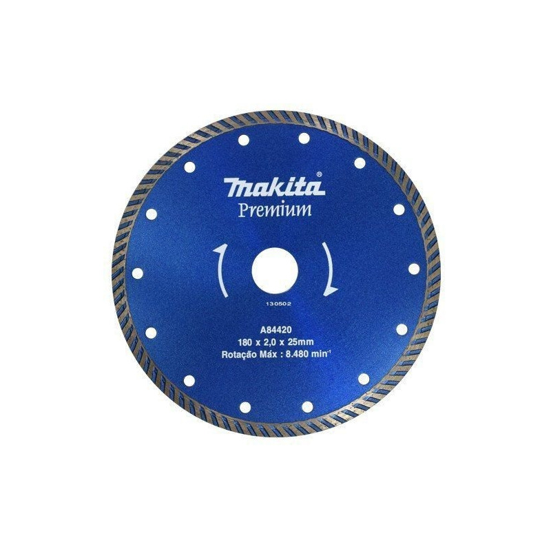 Disco Diamantado Turbo 180mm Makita p/ Mármore-Granito a Água/Seco