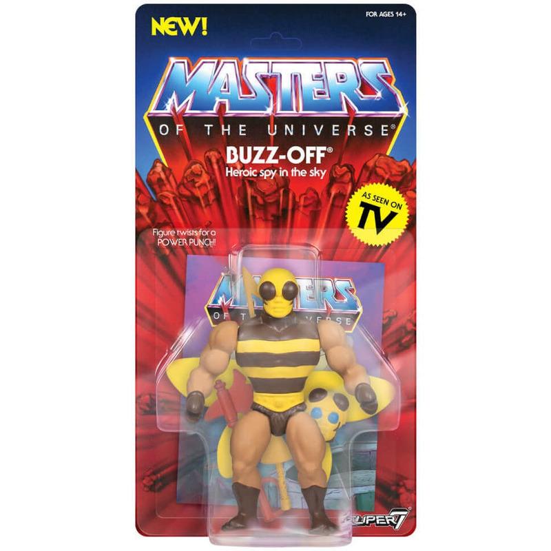 Buzz Off Vintage Masters Of The Universe - Abelhão - MOTU - Super7