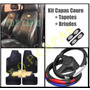 Kit Capa Couro Banco Carro Tapete Volante Chevrolet Brinde