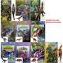Coleção Com 4 Livros De Dinossauro Com Miniatura Articulada