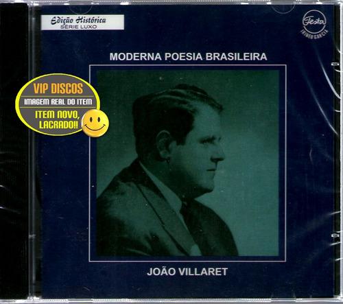 Cd João Villaret Moderna Poesia Brasileira - Raro Original