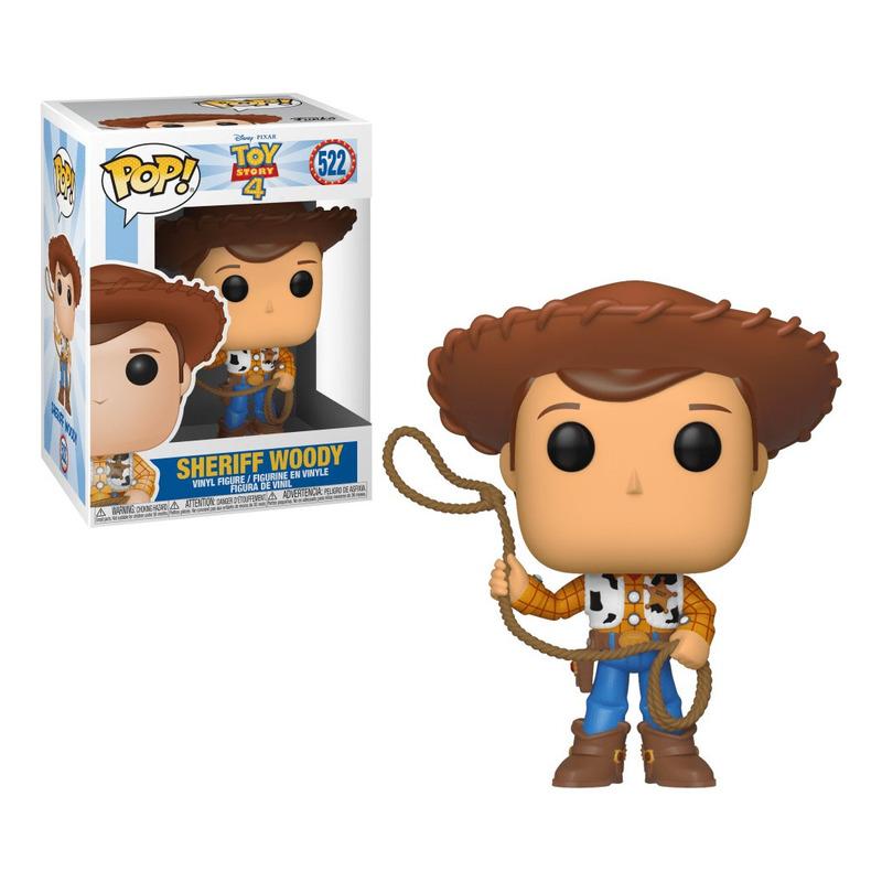 Woody Pop Funko #522 - Sheriff Woody - Toy Story 4 - Disney Pixar