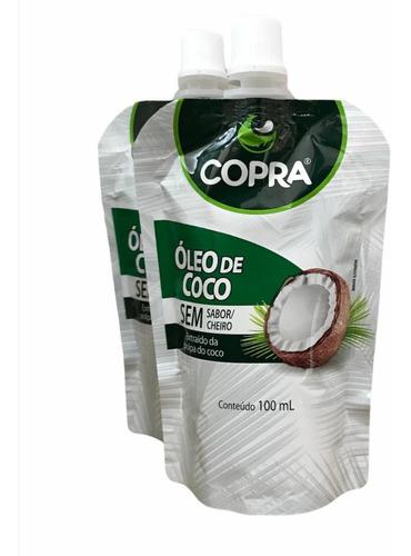 2x Óleo De Coco Sem Sabor/cheiro Stand Pouch (100ml) - Copra Original