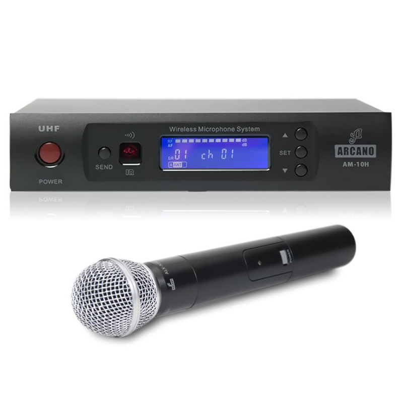 MICROFONE ARCANO SEM FIO UHF 01 MIC MAO AM-10H