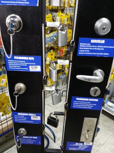Fechadura Multi Lock 4 Pinos De Travamento E 2 Chaves Multi.