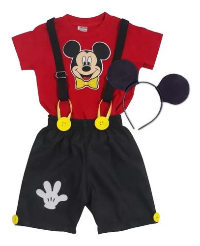 Roupa Do Mickey Social Infantil Menino - Kit Conjunto 3 Pcs Original