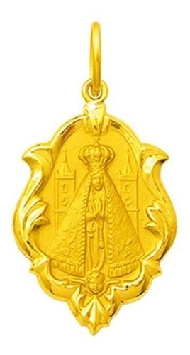 Medalha 47 Imagens De Santos Disponível Ouro 18k  0180-3,2cm Original