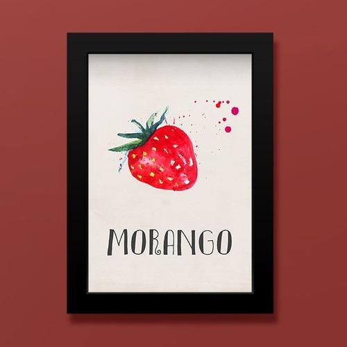 Quadro Morango (preto, 20x30cm) Original