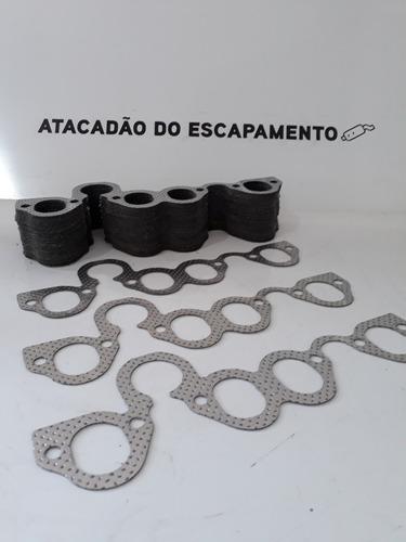 Kit 3 Pç Junta Coletor Admissão+escape+borracha Dagua Ap Vw Original
