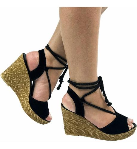 Sandalia Feminina Sapato Salto Sola Conforto Emborrachada Original