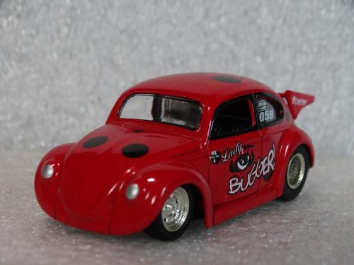 59 Volkswagen Beetle Fusca - Jada Vdubs 2007 - 1:64 - Loose Original