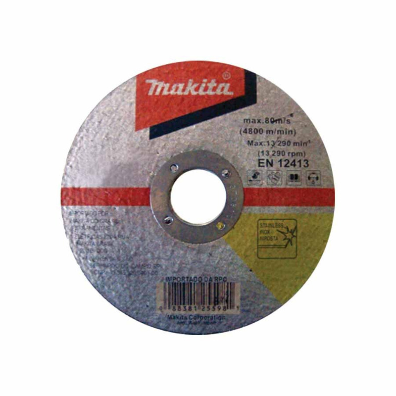 "Kit Esmerilhadeira Angular 180mm GA7020 + Disco de Corte para Inox 7"" D-20024 - Makita"