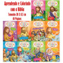 Kit Com 10 Livros Aprendendo E Colorindo Com A Bíblia