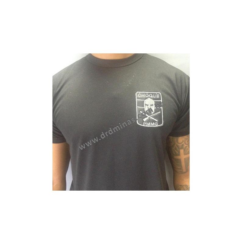 Camisa CHOQUE -  Preta  Bordada