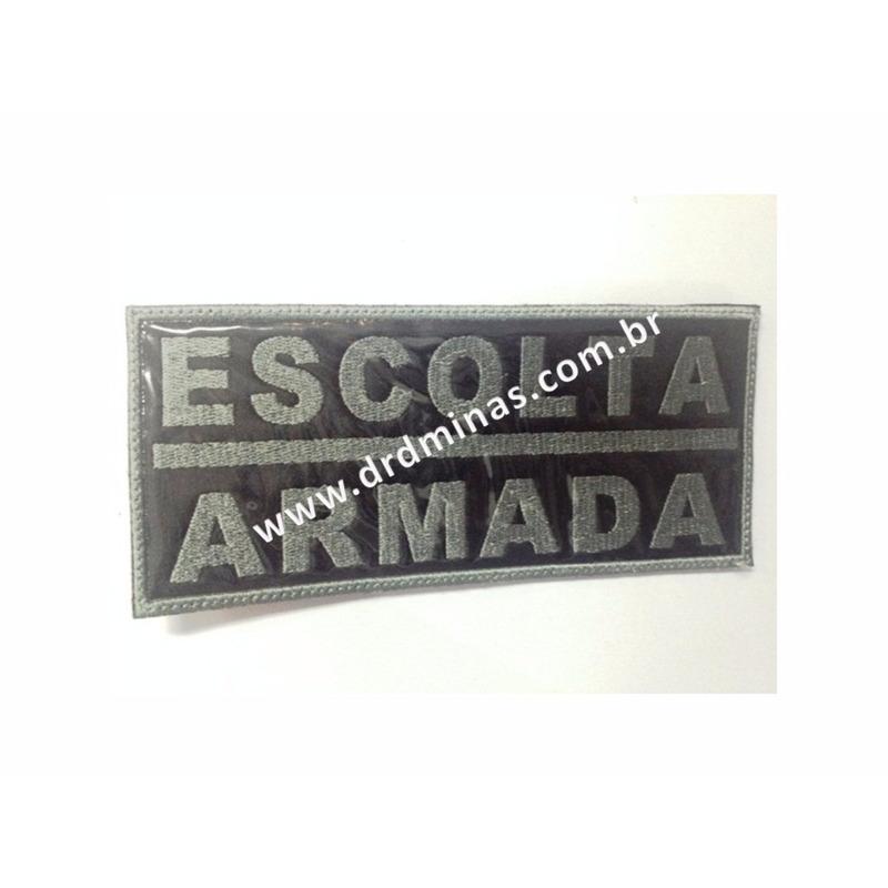 Etiqueta Bordada Escolta Armada - 9 x 18