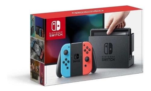 Console Nintendo Switch 32gb Azul Vermelho Néon Lacrado Original