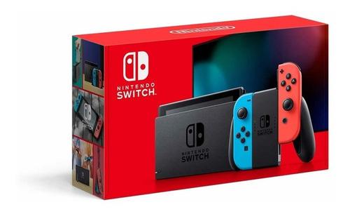 Nintendo Switch 32gb Colorido Neon Red Cinza  Caixa Original