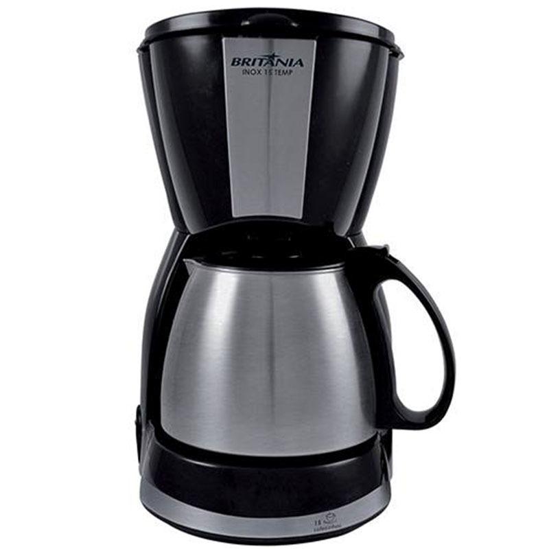 CAFETEIRA BRITANIA CAPACIDADE 15 CAFES INOX 15 TEMP PRETA 110