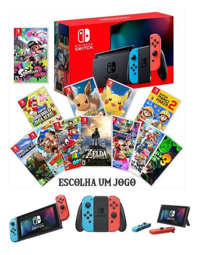 Nintendo Switch Neon E Jogo A Escolher Pokemon Zelda Mario Original