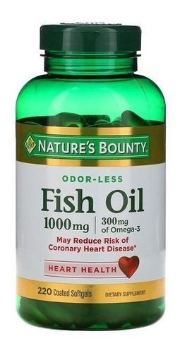 Nature's Bounty Fish Oil Omega 3 1000mg 220 Cápsulas Original
