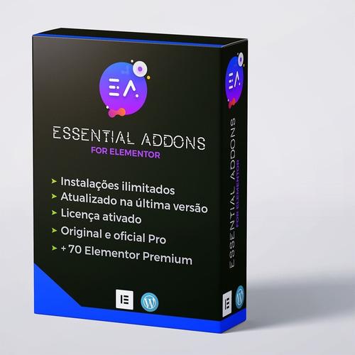 Essential Addons Pro Ilimitado For Elementor - Wordpress Original