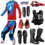 Kit Equipamento Ims Power Roupa Motocross Trilha 8 Itens