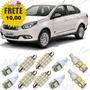 Kit Lampadas Led Fiat Grand Siena Promocao Frete 10, 00