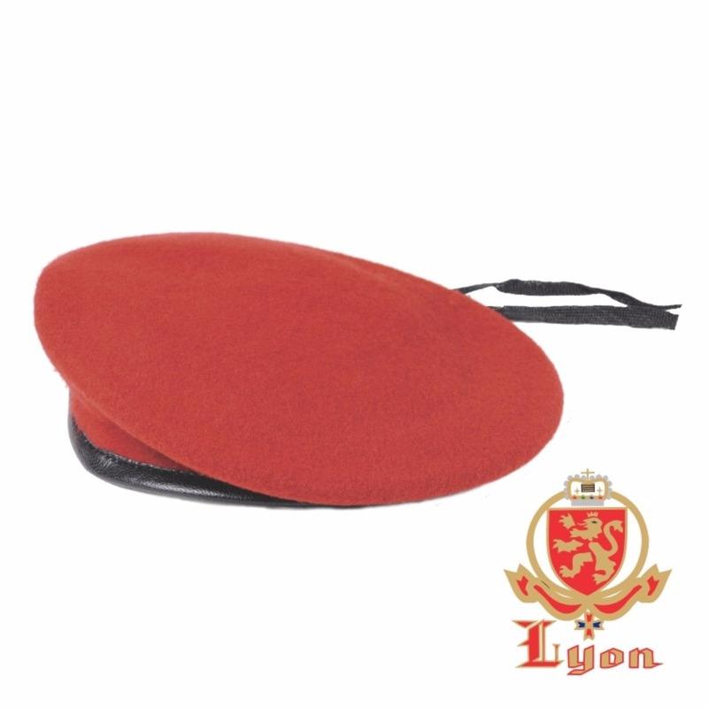 Boina Militar Francesa - Lyon - Vermelha