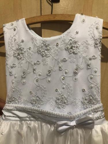 Vestido De Noivinha Branco Tam 10 Usado Apenas 1 Vez Original