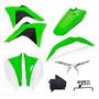Kit Plástico Crf 230 Amx Premium 2008 2019 Verde / Branco