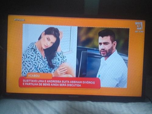 Tv Samsung 32 Tela Com Defeito!  Congelando Imagem! Leia ! Original
