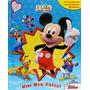 Livro Infantil Casa Do Mickey Um Dia Feliz Com 12 Miniaturas