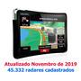 Gps Automotivo 4, 3 Polegadas Tv Digital E Alerta De Radar