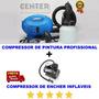 Compressor De Ar Direto Encher Tufão Elétrico Pinta Parede