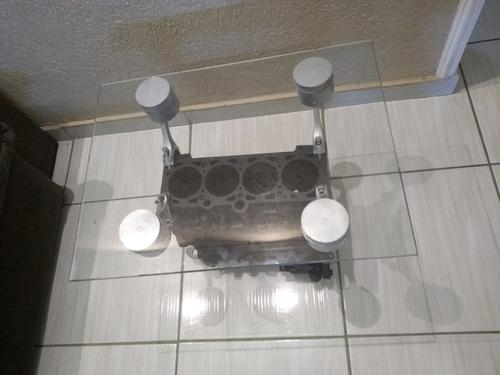 Mesinha De Centro Artesanal Motor Ap Vidro Temperado