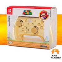 Controle Com Fio Para Nintendo Switch Edição Especial Cromada Mario Dourado - Power A